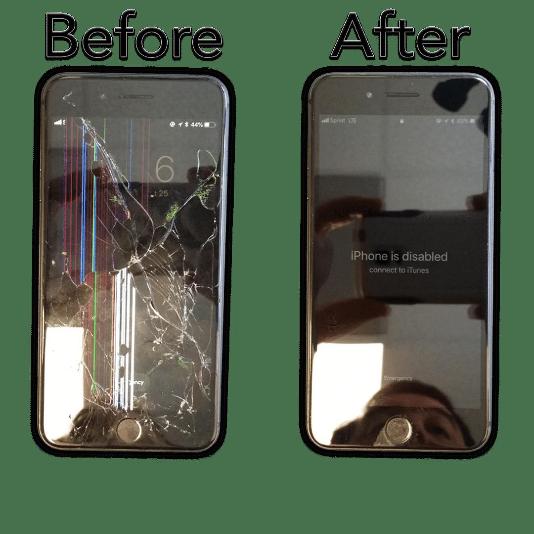 iphone repair for a cracked screen at hotshot repair in columbia mo