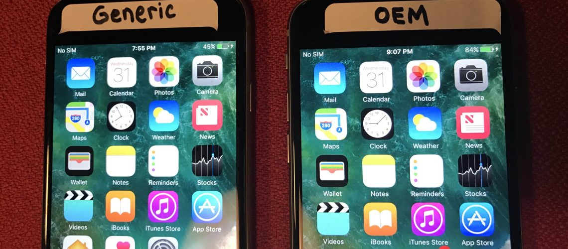 the difference between original and aftermarket iphone screens